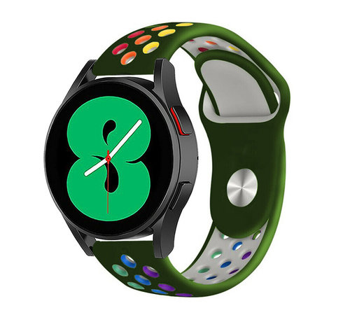 Strap-it® Strap-it® Samsung Galaxy Watch 4 - 44mm sport band (legergroen/kleurrijk)