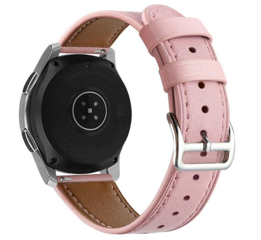 Strap-it® Samsung Galaxy Watch 4 Classic 42mm leren bandje (roze)