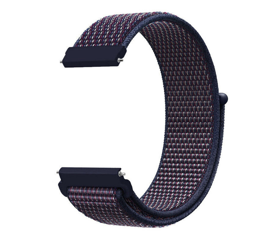 Strap-it® Samsung Galaxy Watch 4 Classic nylon band (paars/blauw)