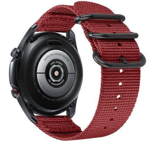 Strap-it® Strap-it® Samsung Galaxy Watch 4 Classic nylon gesp band (rood)