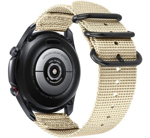 Strap-it® Strap-it® Samsung Galaxy Watch 4 Classic nylon gesp band (khaki)