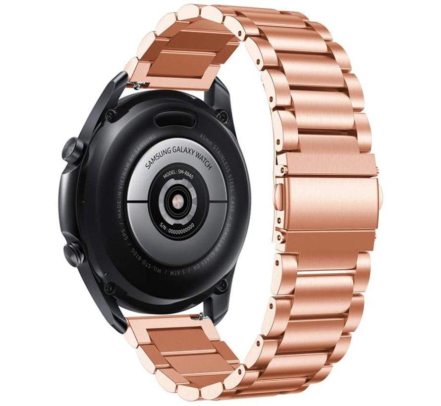Strap-it® Samsung Galaxy Watch 4 Classic stalen band (rosé goud)