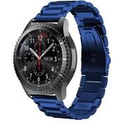 Strap-it® Samsung Galaxy Watch stalen band 45mm / 46mm (blauw)