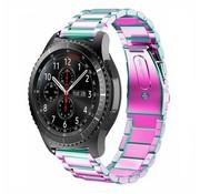Strap-it® Samsung Galaxy Watch stalen band 45mm / 46mm (regenboog)