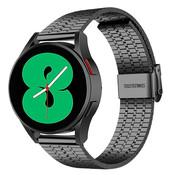 Strap-it® Samsung Galaxy Watch 4 roestvrij stalen band (zwart)