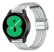 Strap-it® Samsung Galaxy Watch 4 roestvrij stalen band (zilver)
