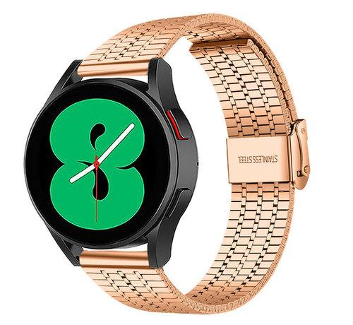 Strap-it® Strap-it® Samsung Galaxy Watch 4 roestvrij stalen band (rosé goud)