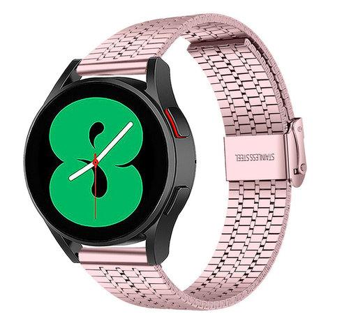 Strap-it® Strap-it® Samsung Galaxy Watch 4 roestvrij stalen band (rosé pink)