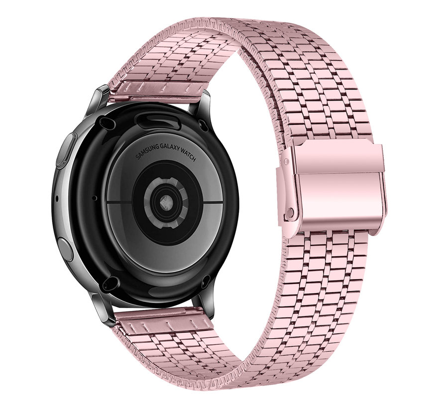 Strap-it® Samsung Galaxy Watch 4 roestvrij stalen band (rosé pink)