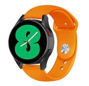 Strap-it® Samsung Galaxy Watch 4 sport band (oranje)