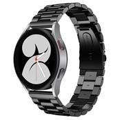 Strap-it® Samsung Galaxy Watch 4 stalen band (zwart)
