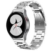 Strap-it® Samsung Galaxy Watch 4 stalen band (zilver)
