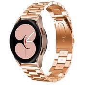 Strap-it® Samsung Galaxy Watch 4 stalen band (rosé goud)