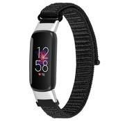 Strap-it® Fitbit Luxe nylon bandje (zwart)