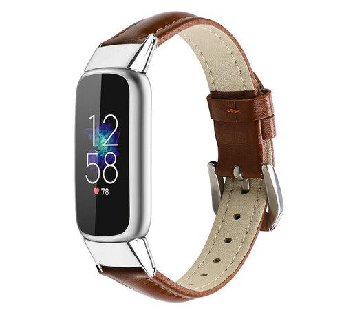 Strap-it® Strap-it® Fitbit Luxe leren bandje (bruin)