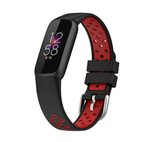 Strap-it® Strap-it® Fitbit Luxe sport band (zwart/rood)