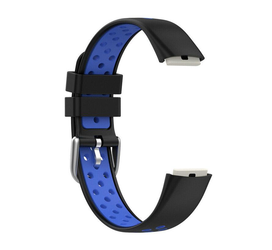 Strap-it® Fitbit Luxe sport band (zwart/blauw)