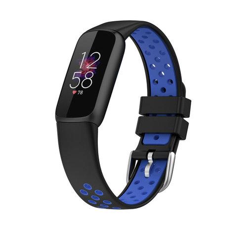 Strap-it® Strap-it® Fitbit Luxe sport band (zwart/blauw)