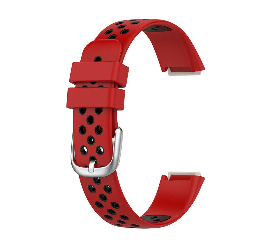 Strap-it® Fitbit Luxe sport band (rood/zwart)