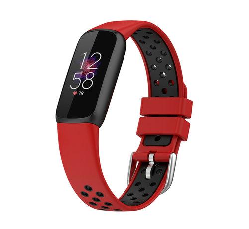 Strap-it® Strap-it® Fitbit Luxe sport band (rood/zwart)