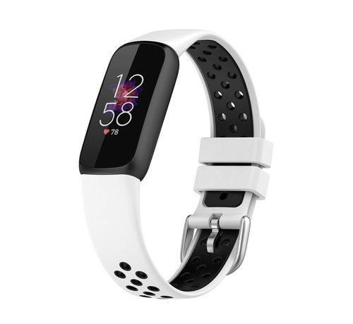 Strap-it® Strap-it® Fitbit Luxe sport band (wit/zwart)