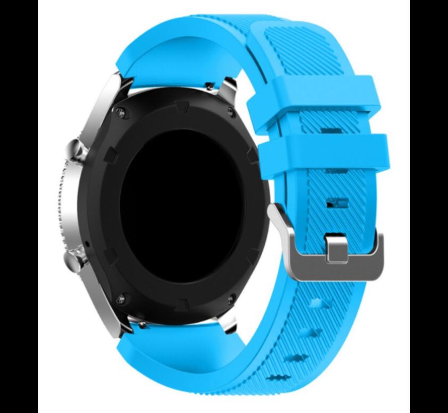 Strap-it Samsung Galaxy Watch 4 Classic 46mm siliconen bandje (lichtblauw)