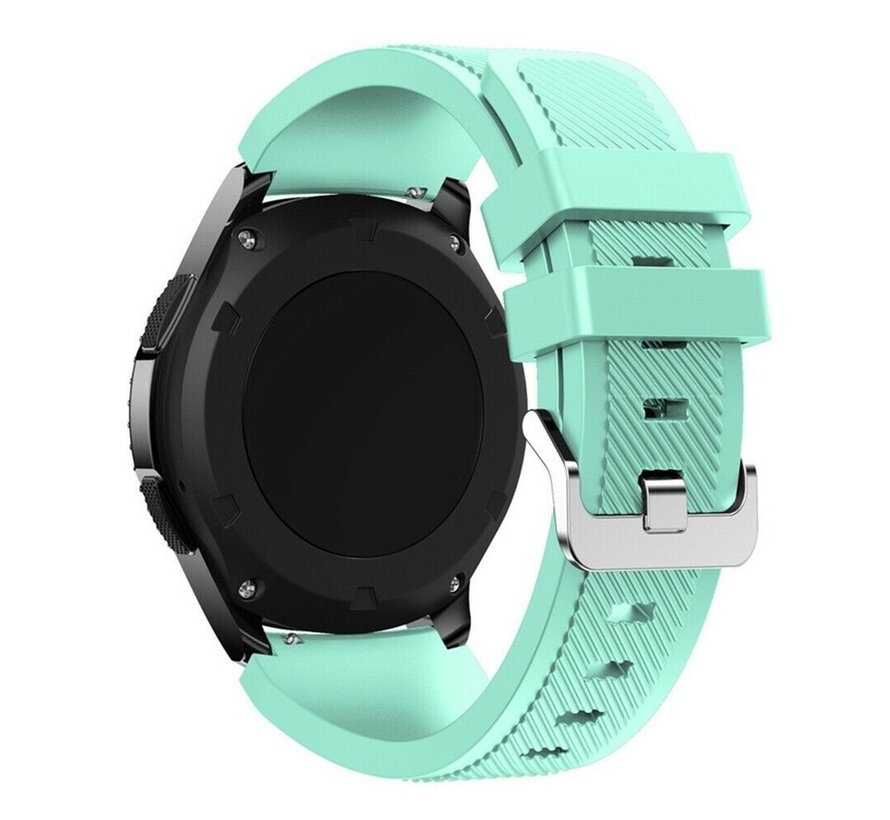 Strap-it Samsung Galaxy Watch 4 Classic 42mm siliconen bandje (aqua)