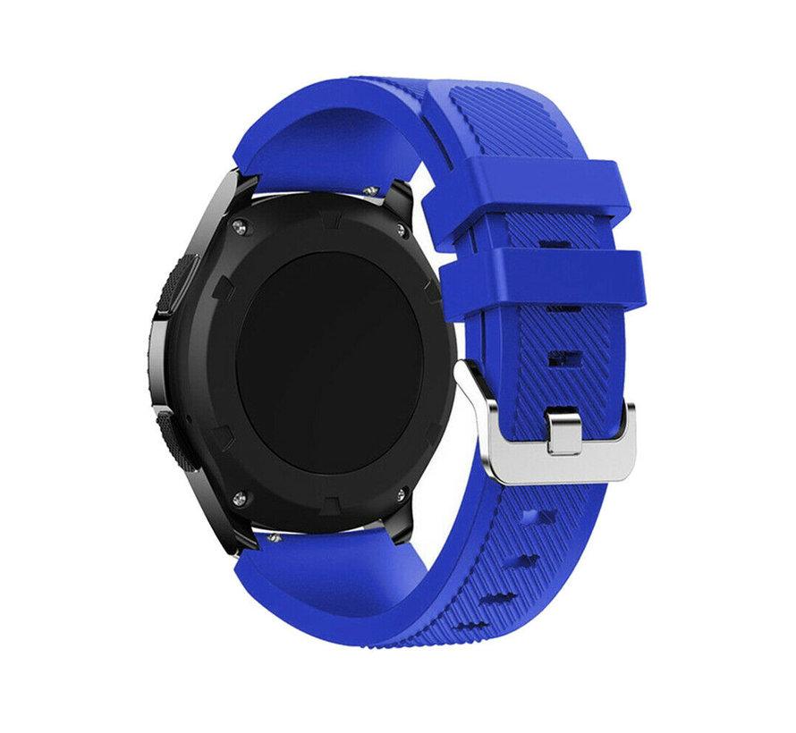 Strap-it Samsung Galaxy Watch 4 Classic 42mm siliconen bandje (blauw)