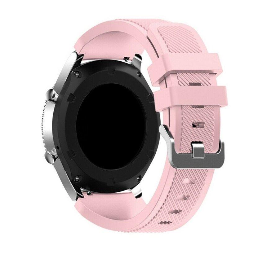 Strap-it Samsung Galaxy Watch 4 Classic 42mm siliconen bandje (roze)