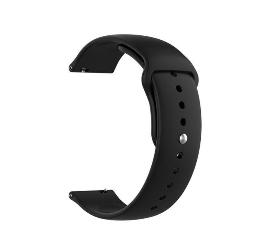 Strap-it® Samsung Galaxy Watch 4 Classic sport band (zwart)