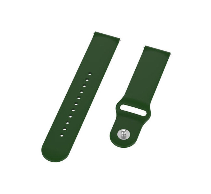 Strap-it® Samsung Galaxy Watch 4 Classic sport band (legergroen)