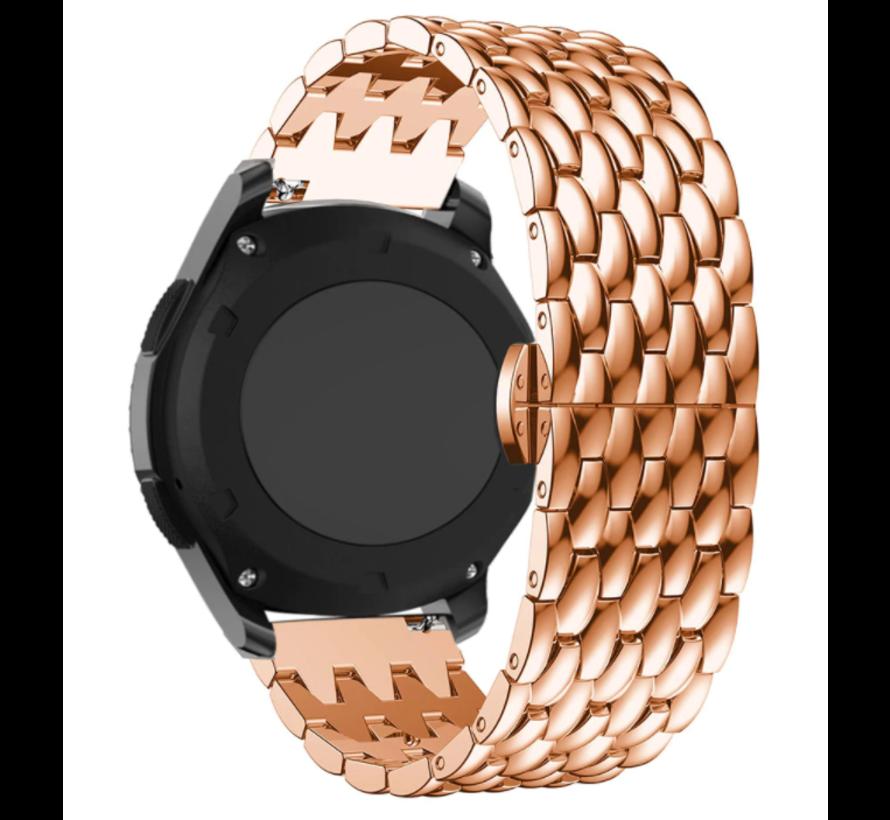 Strap-it® Samsung Galaxy Watch 4 Classic stalen draak bandje (rosé goud)