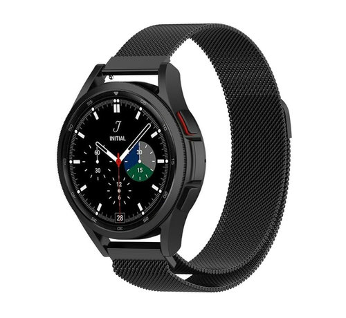 Strap-it® Strap-it® Samsung Galaxy Watch 4 Classic 42mm Milanese band (zwart)