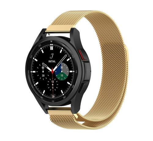 Strap-it® Strap-it® Samsung Galaxy Watch 4 Classic 42mm Milanese band (goud)
