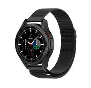 Strap-it® Samsung Galaxy Watch 4 Classic 46mm Milanese band (zwart)