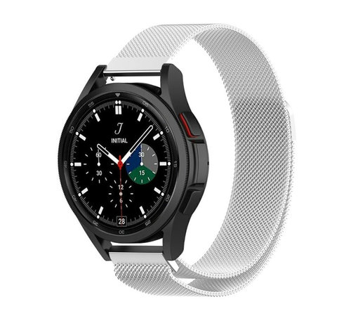 Strap-it® Strap-it® Samsung Galaxy Watch 4 Classic 46mm Milanese band (zilver)