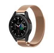 Strap-it® Samsung Galaxy Watch 4 Classic 46mm Milanese band (rosé goud)
