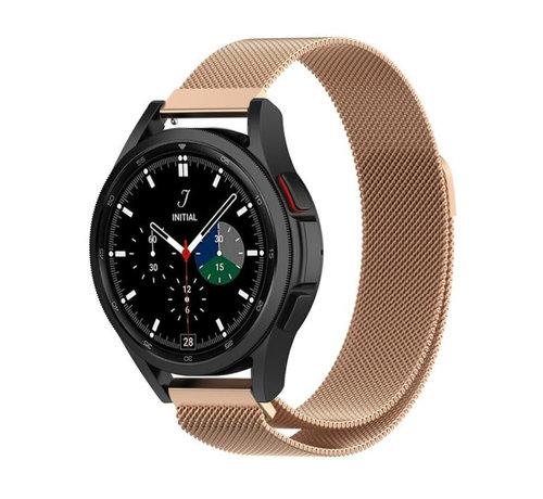 Strap-it® Strap-it® Samsung Galaxy Watch 4 Classic 46mm Milanese band (rosé goud)