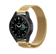 Strap-it® Samsung Galaxy Watch 4 Classic 46mm Milanese band (goud)