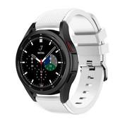 Strap-it® Samsung Galaxy Watch 4 Classic 42mm siliconen bandje (wit)