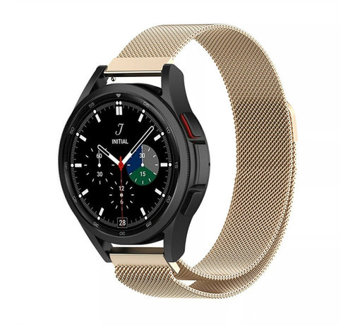 Strap-it® Strap-it® Samsung Galaxy Watch 4 Classic 42mm Milanese band (champagne)