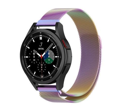Strap-it® Strap-it® Samsung Galaxy Watch 4 Classic 46mm Milanese band (regenboog)