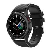 Strap-it® Samsung Galaxy Watch 4 Classic 46mm siliconen bandje (zwart)