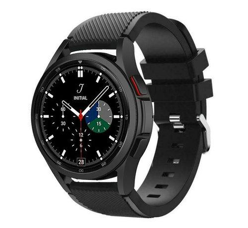 Strap-it® Strap-it Samsung Galaxy Watch 4 Classic 46mm siliconen bandje (zwart)