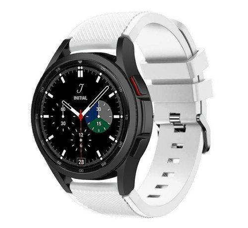 Strap-it® Strap-it Samsung Galaxy Watch 4 Classic 46mm siliconen bandje (wit)
