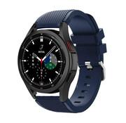 Strap-it® Samsung Galaxy Watch 4 Classic 46mm siliconen bandje (donkerblauw)