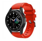 Strap-it® Samsung Galaxy Watch 4 Classic 46mm siliconen bandje (rood)