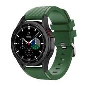Strap-it® Samsung Galaxy Watch 4 Classic 46mm siliconen bandje (legergroen)