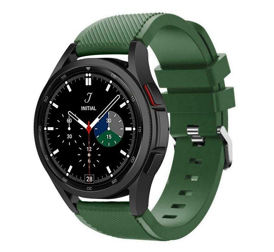 Strap-it Samsung Galaxy Watch 4 Classic 46mm siliconen bandje (legergroen)