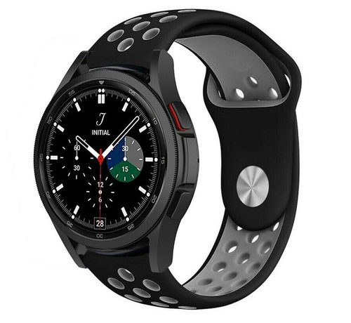 Strap-it® Strap-it® Samsung Galaxy Watch 4 Classic sport band (zwart/grijs)